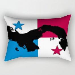 Panama Map with Panamanian Flag Rectangular Pillow