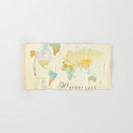 Wanderlust Vintage World Map Art Print Hand & Bath Towel