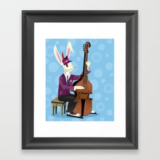 The Jazz Bunny Framed Art Print