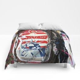 Liberty Consume New York Graffiti Comforters