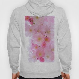 Botanical blush pink white cherry blossom floral Hoody