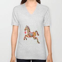 Carousel Horse Unisex V-Neck