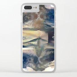 Cloudy Xray Mandala Clear iPhone Case