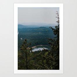 Echo Lake in The White Mountains Art Print