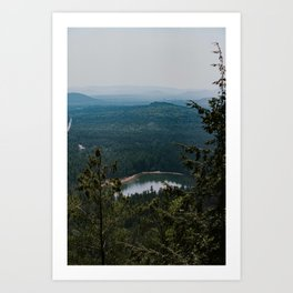 Echo Lake in The White Mountains Art Print