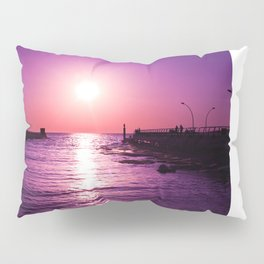 Surreal violet sunset Pillow Sham
