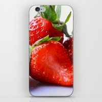 strawberry iPhone & iPod Skins featuring Strawberry by Nicole Mason-Rawle