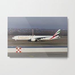 Emirates Boeing 777-300ER Metal Print