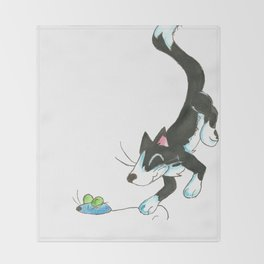 Cat and Mouse Throw Blanket