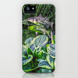 Greens and Yellows Garden iPhone Case