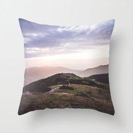 good morning mountains Throw Pillow
