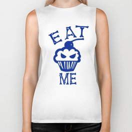 Eat Me (Blue Version) Biker Tank