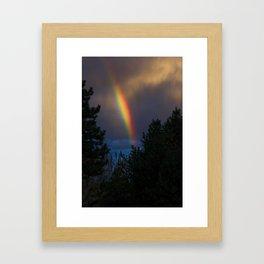 Rainbow At Dusk Framed Art Print