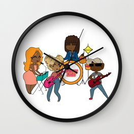 Jamming with the Kids Wall Clock