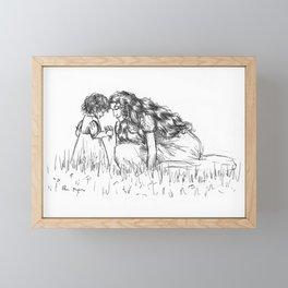 Fantine and Cosette Framed Mini Art Print