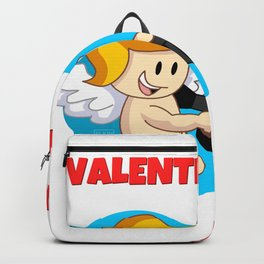 Kawaii Angel with Hearts Machine Gun for Valentine's Day Backpack
