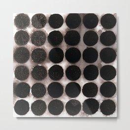 Watercolour Garnet Discs Metal Print