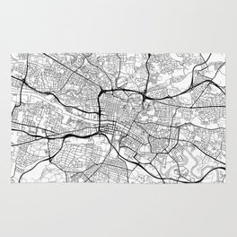 Glasgow Map White Rug