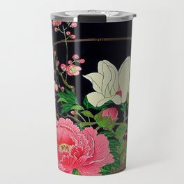 Ohara Koson Flower Basket Travel Mug