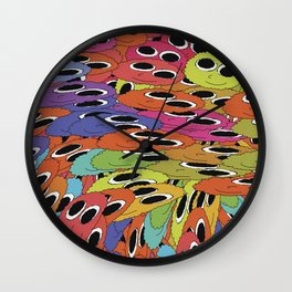 Cute Crowd Wall Clock