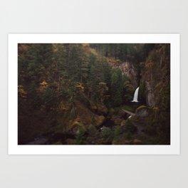 Wahclella Falls Art Print