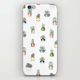 Cute cactus pattern iPhone Skin