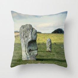 Avebury Stones Throw Pillow