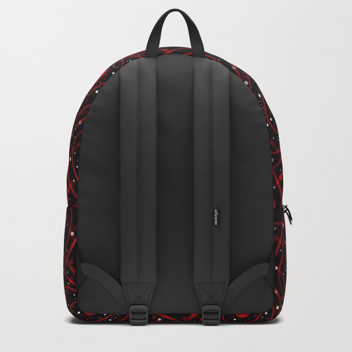 Black And Red Hearts Backpack