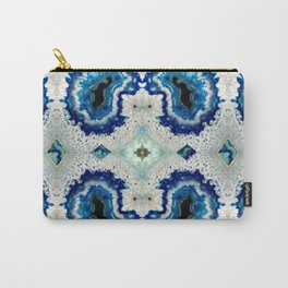Stone pattern (Blue&Gold) Carry-All Pouch