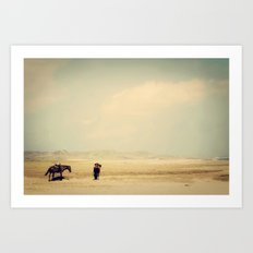 Bushiribana Horses At Play Art Print