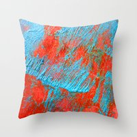 coral Throw Pillows featuring Coral  by haroulita