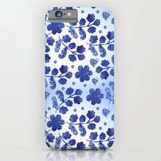 Beautiful vintage watercolor pattern with flowers Slim Case iPhone 6s