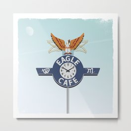 Eagle Café Metal Print