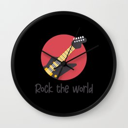 Rock the World Wall Clock