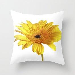 Daisy - yellow Throw Pillow