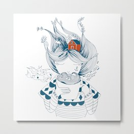 Scandinavian seaman's wife Metal Print