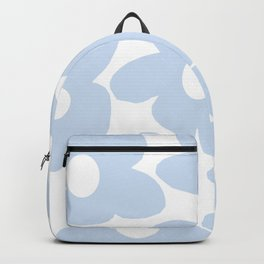 Large Baby Blue Retro Flowers White Background #decor #society6 #buyart Backpack