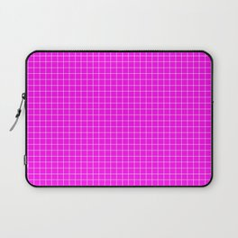 Pink Grid White LIne Laptop Sleeve