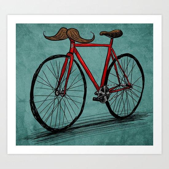 Baffi Bici Art Print