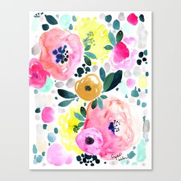 Wake Up Floral Canvas Print