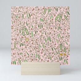 Beams in Pink Mini Art Print