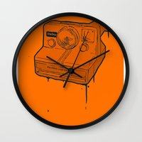 polaroid Wall Clocks featuring polaroid by TMSYO