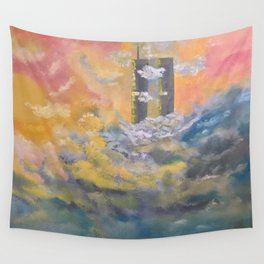 Twin Towers rebuilt in Heaven Wall Tapestry