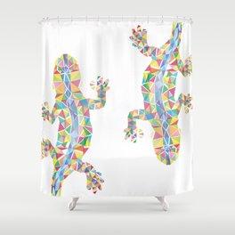 Barcelona Lizard Shower Curtain