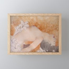 Lillium (Where The Lillies Drown) Framed Mini Art Print