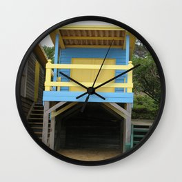 Blue Bathing Box Wall Clock