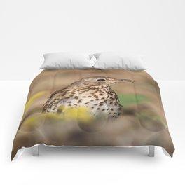 bird mannequin Comforters