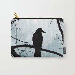 Bird 77 Crow Raven Carry-All Pouch