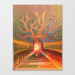 New Year in The Smart City Canvas Print