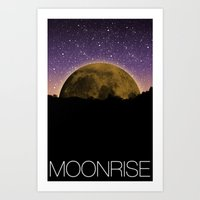 moonrise Art Prints featuring Moonrise by 1982 est. by A.W. Owens